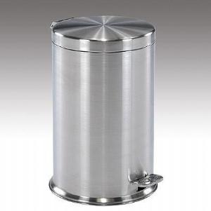 不锈钢脚踏式垃圾桶 (